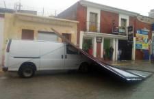 Causa tromba daños en Tlaxiaco