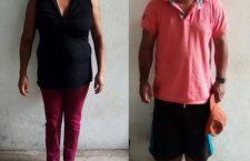 Aseguran a pareja con más de 18 kilos de marihuana