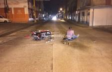 Derrapan motociclistas en presunto estado de ebriedad
