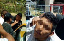 Pobladores aseguran a posibles secuestradores de taxista