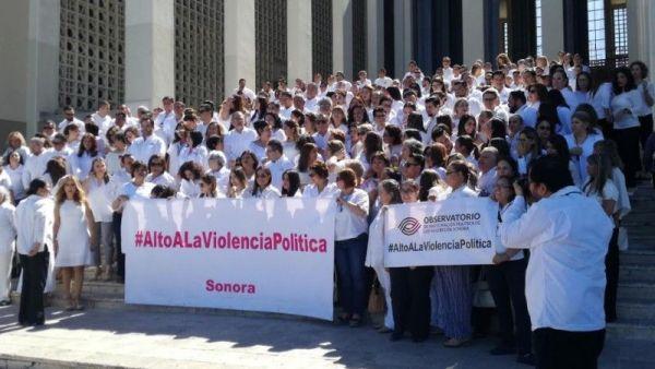 Se manifiestan en Sonora contra violencia política