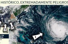 """Miles escapan de """"Florence"""" en la costa Este de EU; """"es monstruoso, y extremadamente peligroso"""""""