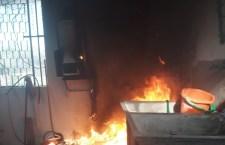 Boiler provoca incendio en vivienda de Huajuapan