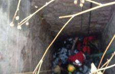 Hombre cae a pozo en La Junta, Huajuapan