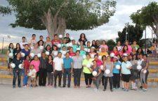 Ayuntamiento entrega estímulo deportivo a liga femenil de voleibol