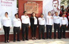 Autoridades municipales y sector educativo conmemoraron el 81 aniversario de la Expropiación Petrolera
