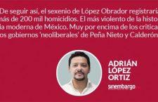 #Opinión «¿Hay más homicidios con López Obrador que con Peña?»: @AdrianLopezMX