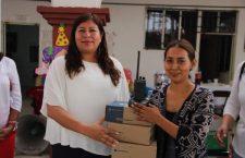 Recibe agencia Santa Teresa, por parte de la presidenta Juanita Cruz, equipo para reforzar seguridad