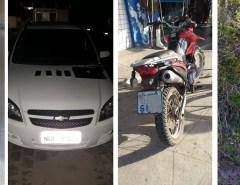 PM apreende arma, recupera veículos e objetos roubados na Grande Natal