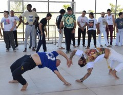 Encontro nacional de Capoeira está acontecendo na Vila Olímpica de Macaíba