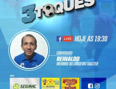 Reinaldo concede entrevista ao programa Três Toques desta segunda (12)