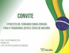 Convite – Desfile Cívico 2019 em Macaíba