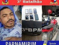 POLÍCIA MILITAR PRENDE ASSALTANTE EM PARNAMIRIM