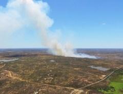Após 13 horas de queimada, fogo é controlado em zona rural no Oeste potiguar