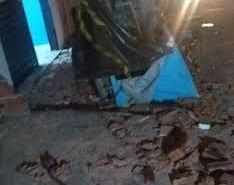 Marquise desaba e duas pessoas ficam feridas na Zona Norte de Natal.