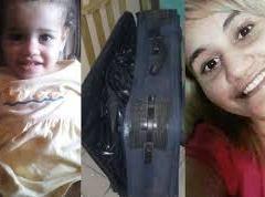 Mãe presa acusada de matar filha de dois anos e esconder corpo em mala