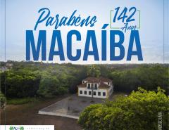 Parabéns, Macaíba, pelos seus 142 anos!