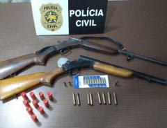 Polícia Civil prende dois homens e apreende veículos, combustíveis ilegais, armas e munições em Macaíba