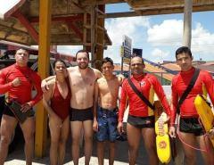 Família de turistas brasilienses é resgatada de afogamento por bombeiros em praia da Grande Natal