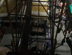 Macaíba: Transformador estoura e várias pessoas ficam presas na Roda Gigante