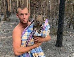 Coragem: Jovem é tratado como herói na Austrália por desafiar fogo para salvar nove coalas