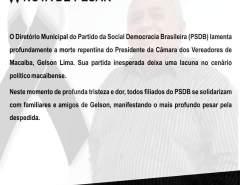 Nota de Pesar PSDB Macaíba