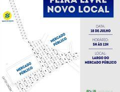 Feira livre de Macaíba retorna à região dos mercados públicos neste sábado (18/07)