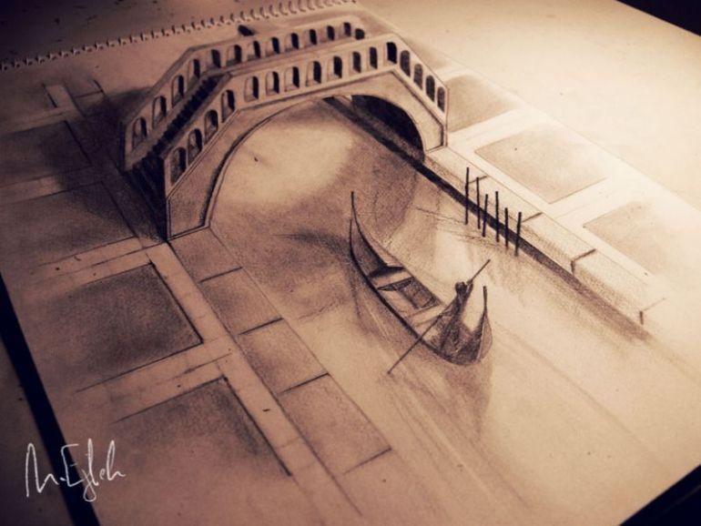 contoh gambar 3 dimensi perahu