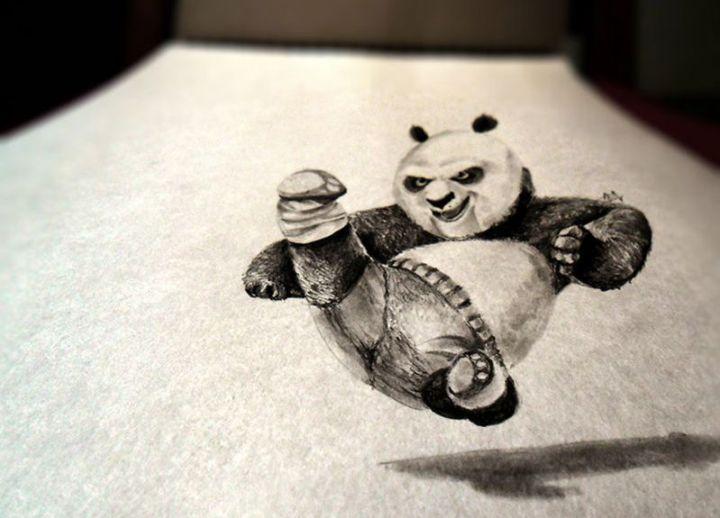 contoh gambar 3 dimensi kungfu panda