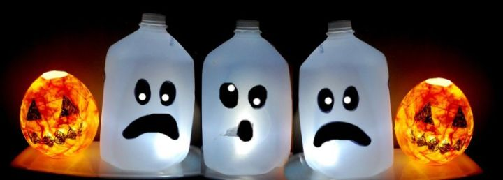 Mainan dari Botol Bekas - Dekorasi Halloween