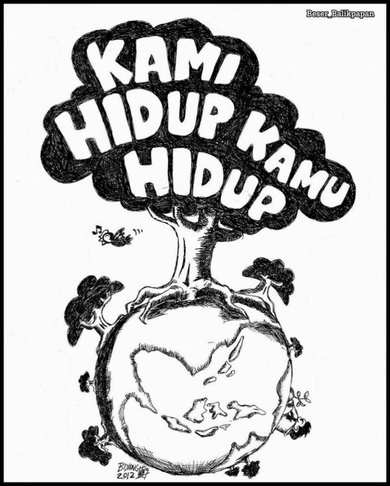 Desain Karikatur: 50 Contoh Poster Dan Slogan Bertema Lingkungan [Menarik
