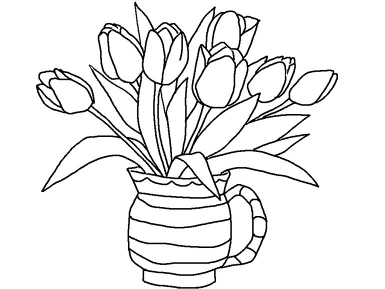 Gambar Bunga Tulip di dalam Vas