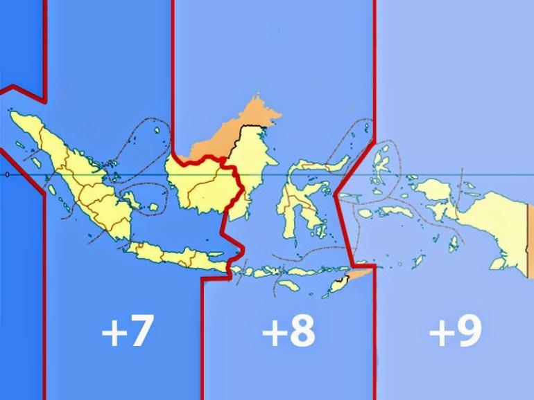 zona waktu Indonesia