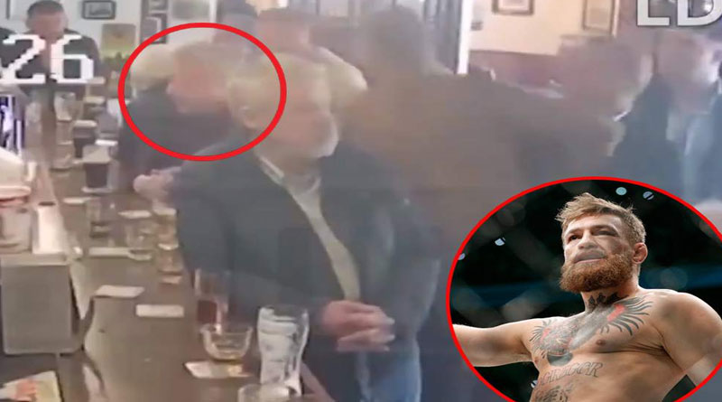 VIDEO: Connor McGregor golpea a un anciano que rechazó su whisky en un bar de Dublín –