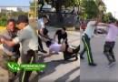Video: Tremendo rebú entre hombre y agentes de la Digesett en Moca