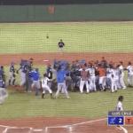 (VÍDEO) Lío entre Licey y Toros termina con varios peloteros expulsados