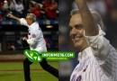 Luis Abinader lanza primera bola en partido de los Mets y Filadelfia