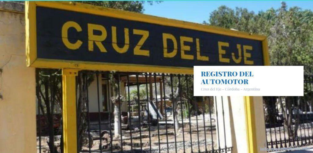 Registros de Automotores Cruz del Eje Córdoba