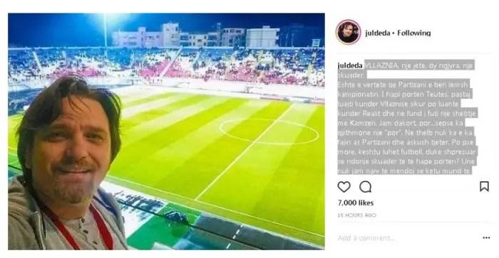 """Nga Julian Deda . """"Vllaznia një jetë, dy ngjyra, një skuadër …"""""""