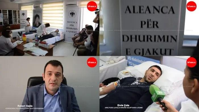 Përfaqësues të komunitetit egjiptian dhurojnë gjak për fëmijët talasemikë.