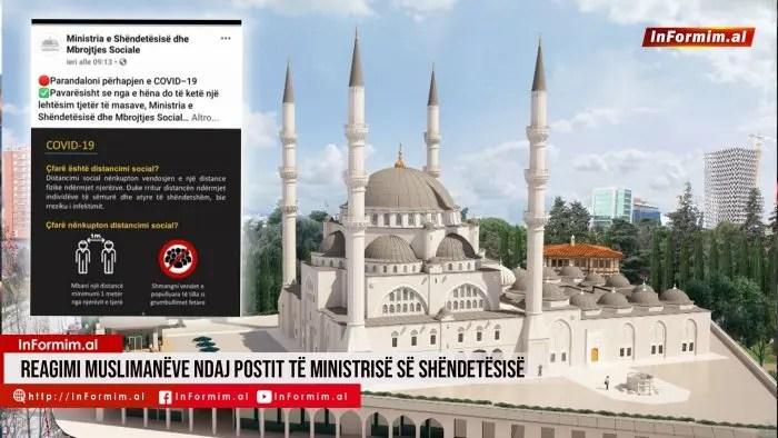 Reagimi muslimanëve ndaj postit të Ministrisë së Shëndetësisë