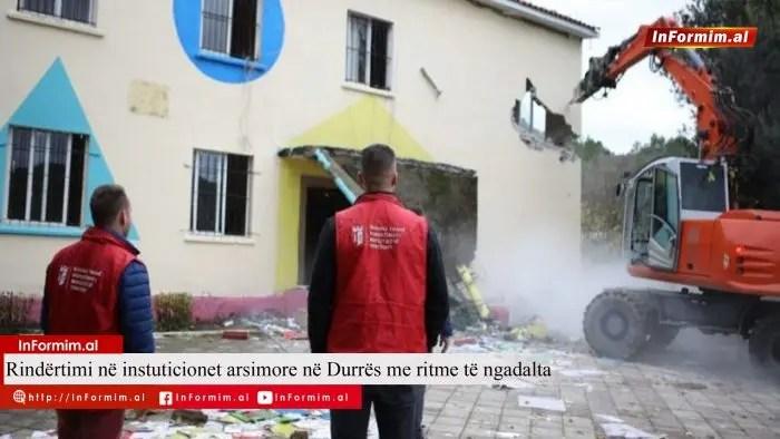 Rindërtimi në institucionet arsimore në Durrës me ritme të ngadalta