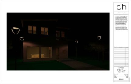 """Night rendering for """"luring"""" burglars into the home."""