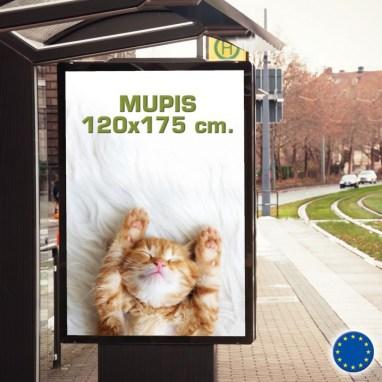Impresión de mupis