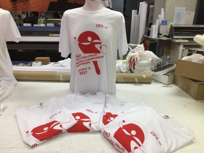 Serigrafia camisetas tecnicas blancas mundial de palas santander