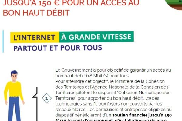 Cohésion Numérique du Territoire : Aide financière disponible