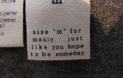 Info Santai: 15 Mesej Pada Tag Pakaian Yang Buat Anda Tersenyum