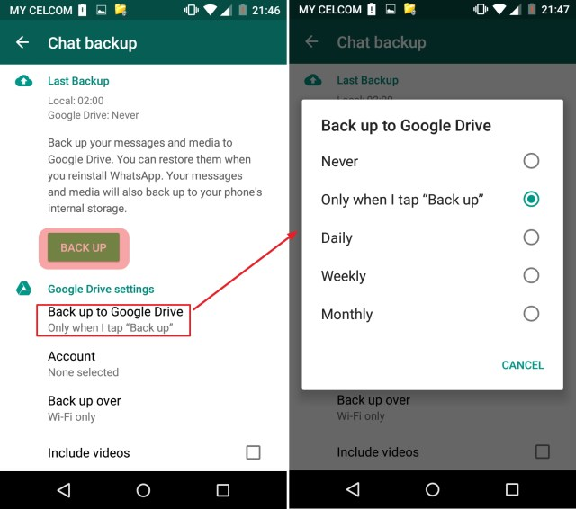 cara backup whatsapp chat