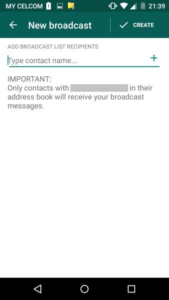 Cara hantar msg whatsapp guna broadcast