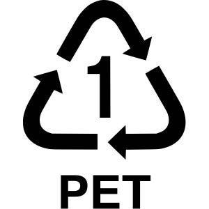 kod plastik no 1 pet atau pete